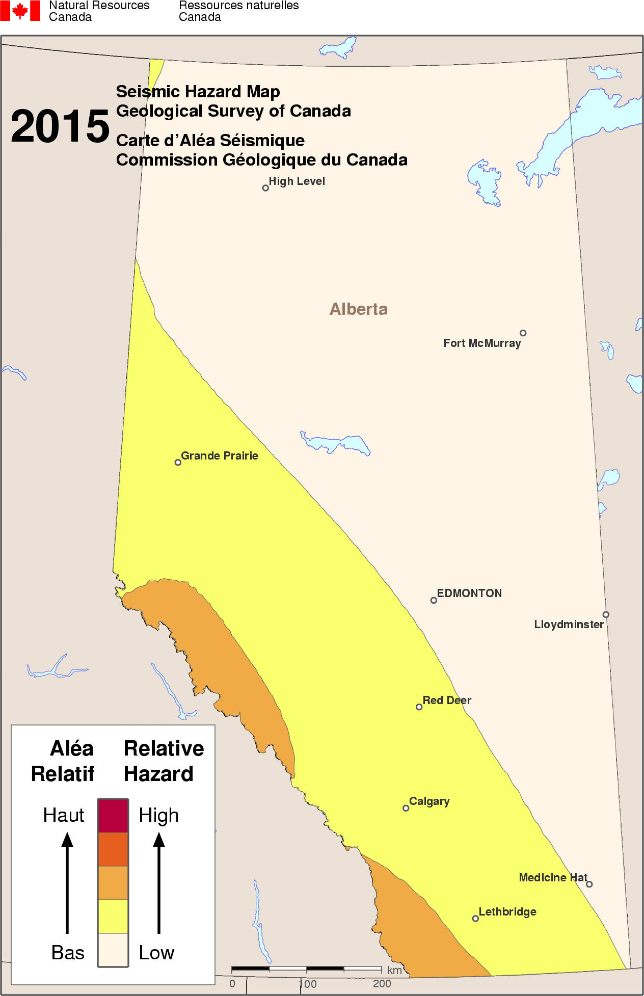 2015 NBCC seismic hazard map - AB
