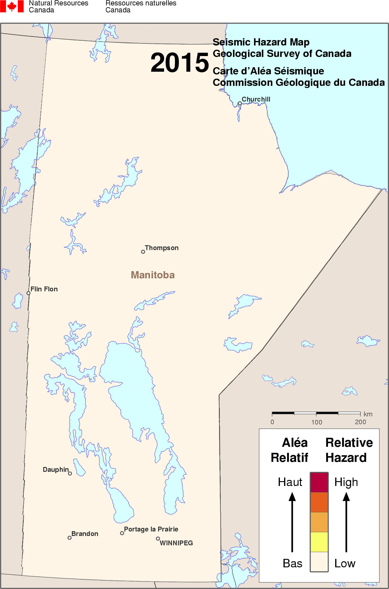 2015 NBCC seismic hazard map - MB