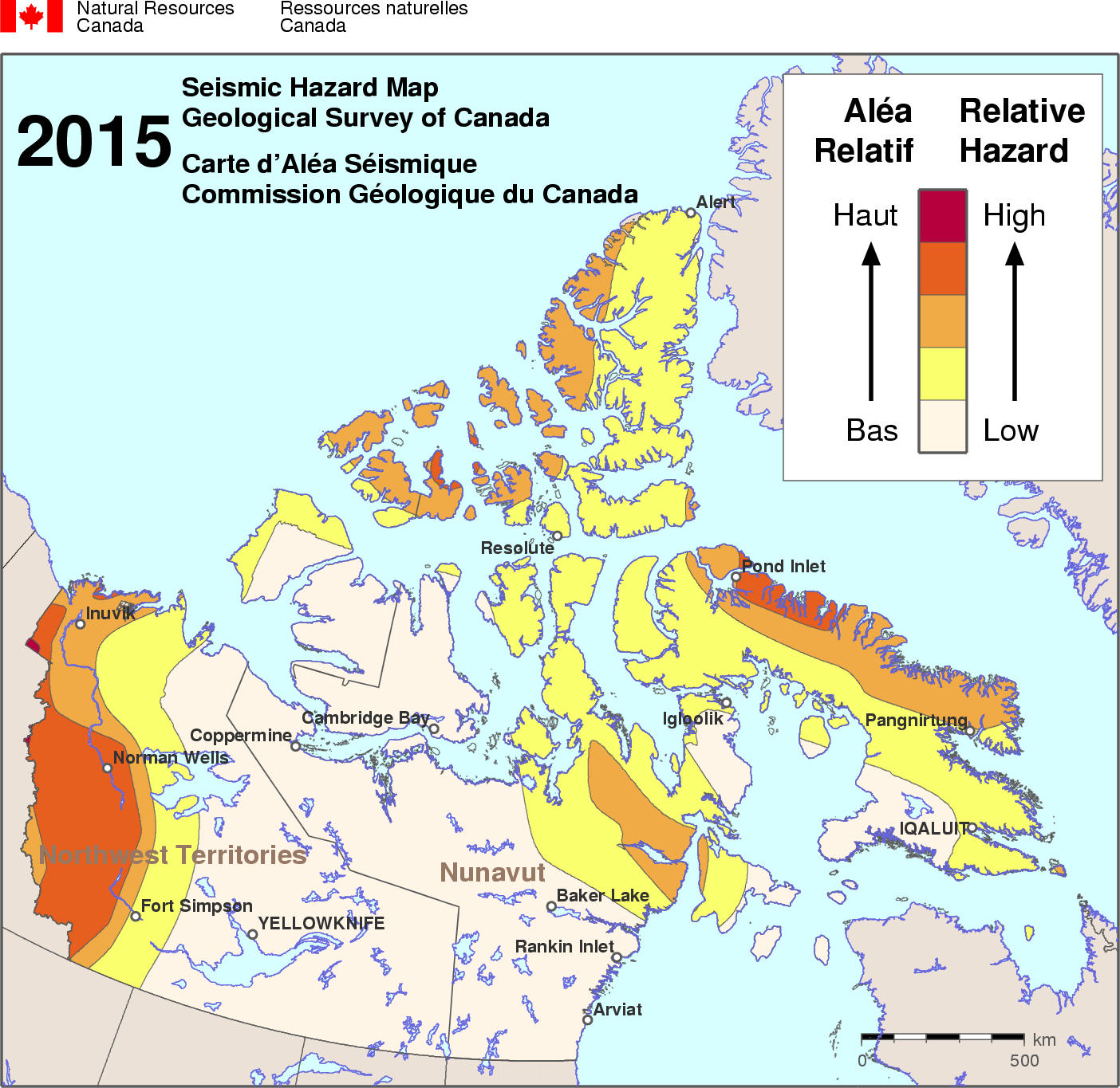 2015 NBCC seismic hazard map - NTNU