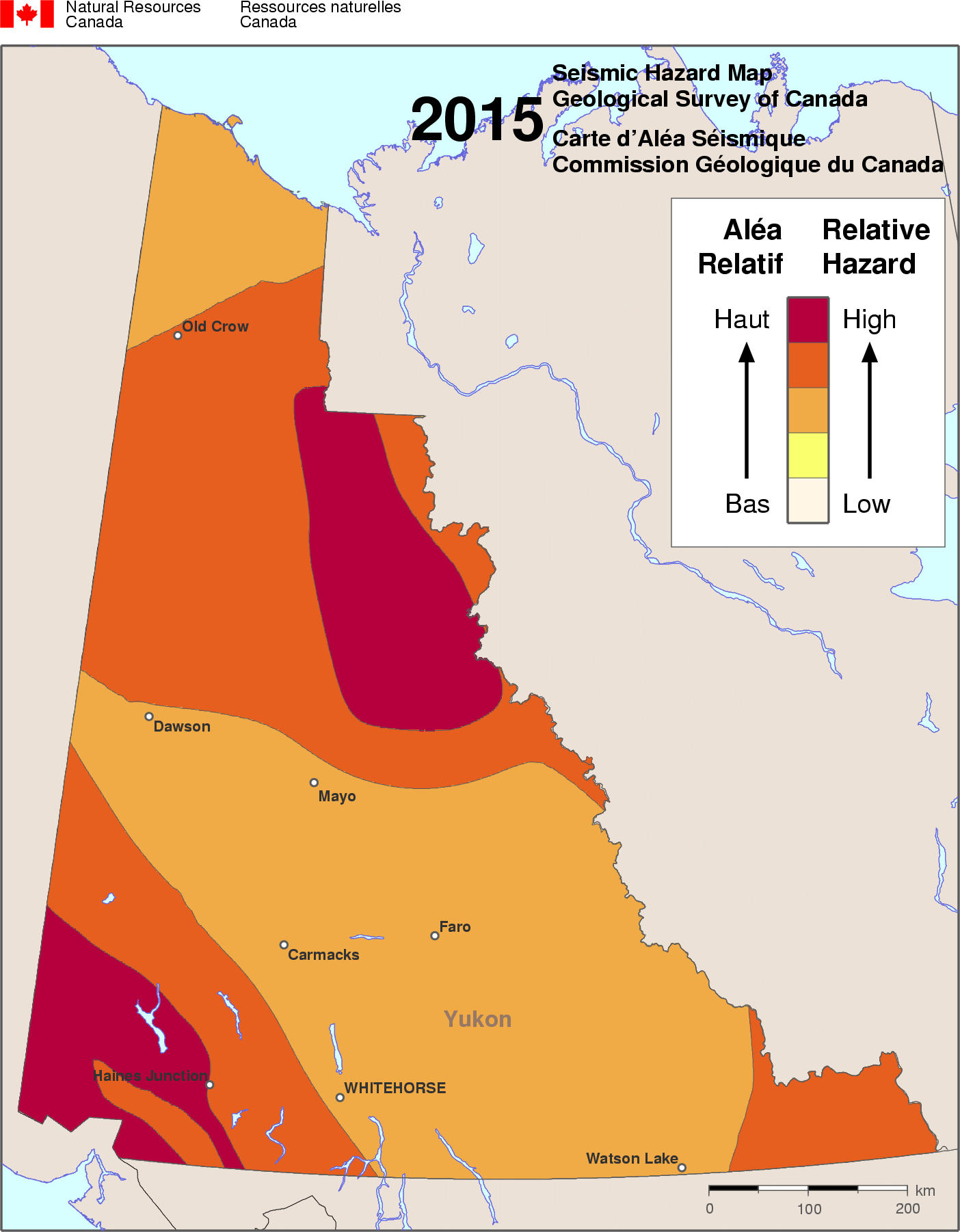 2015 NBCC seismic hazard map - YT