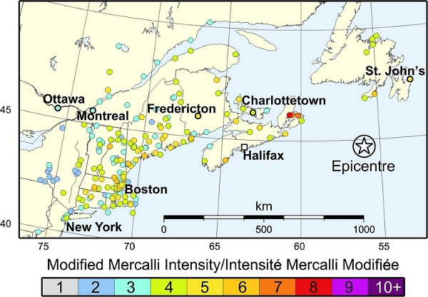 1929 revised modified mercalli intensity map